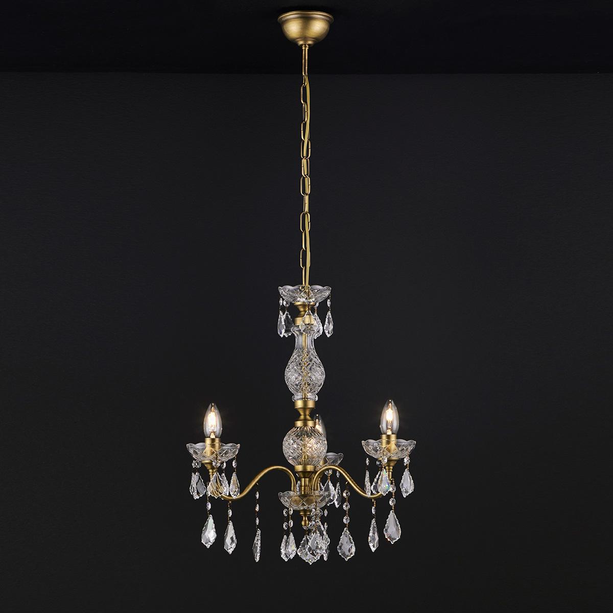 Κλασικό 3φωτο κρεμαστό φωτιστικό ΔΙΟΝ classic 3-bulb chandelier DION