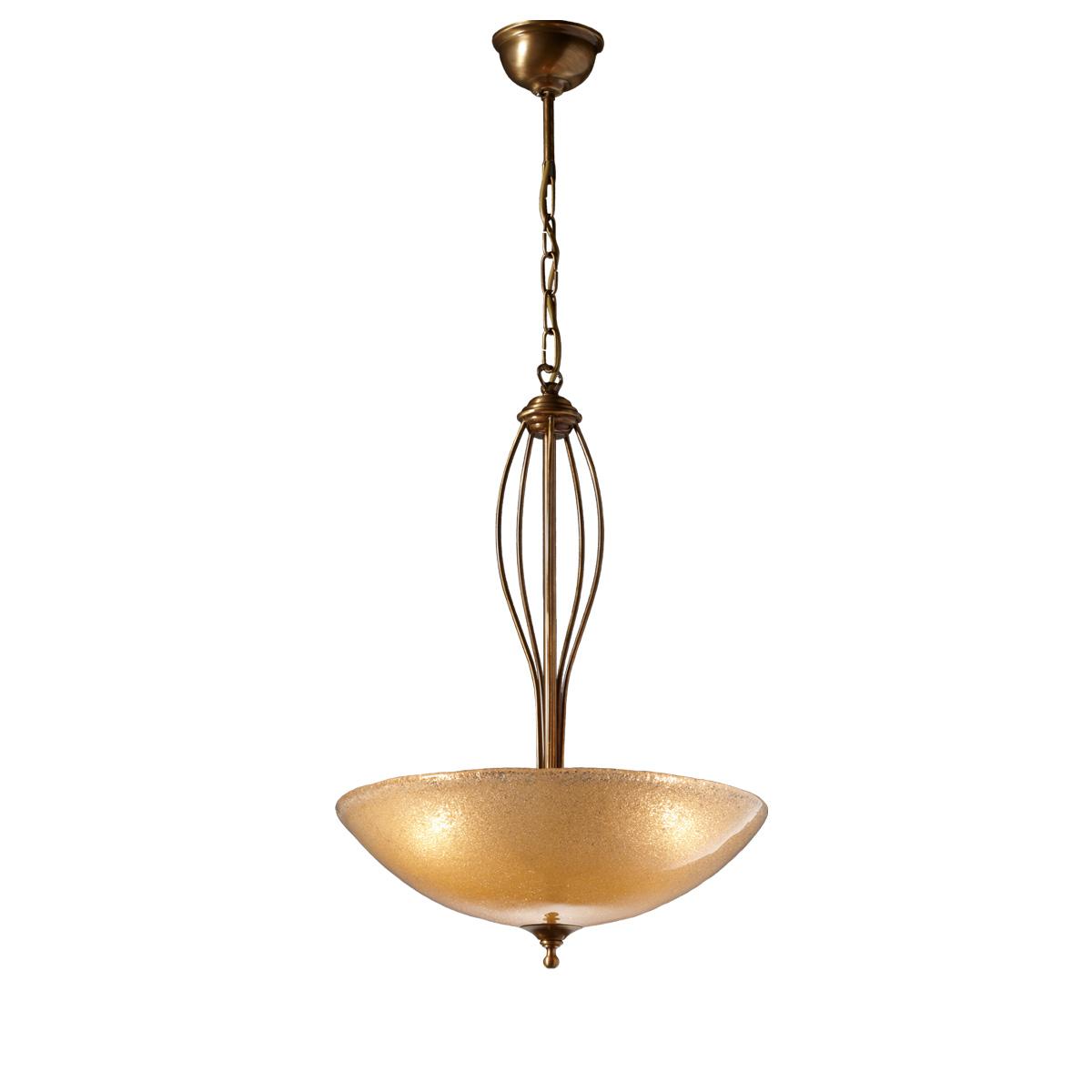Κλασικό μονόφωτο με κρύσταλλο Murano ΝΥΜΦΑΙΟ classic suspension lamp with Murano crystal