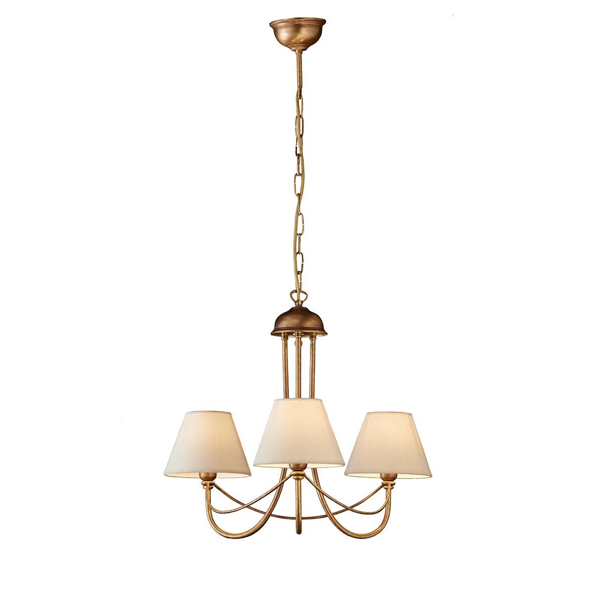Κλασικό 3φωτο κρεμαστό φωτιστικό με καπέλα ΓΥΘΕΙΟ classic 3-bulb chandelier with shades
