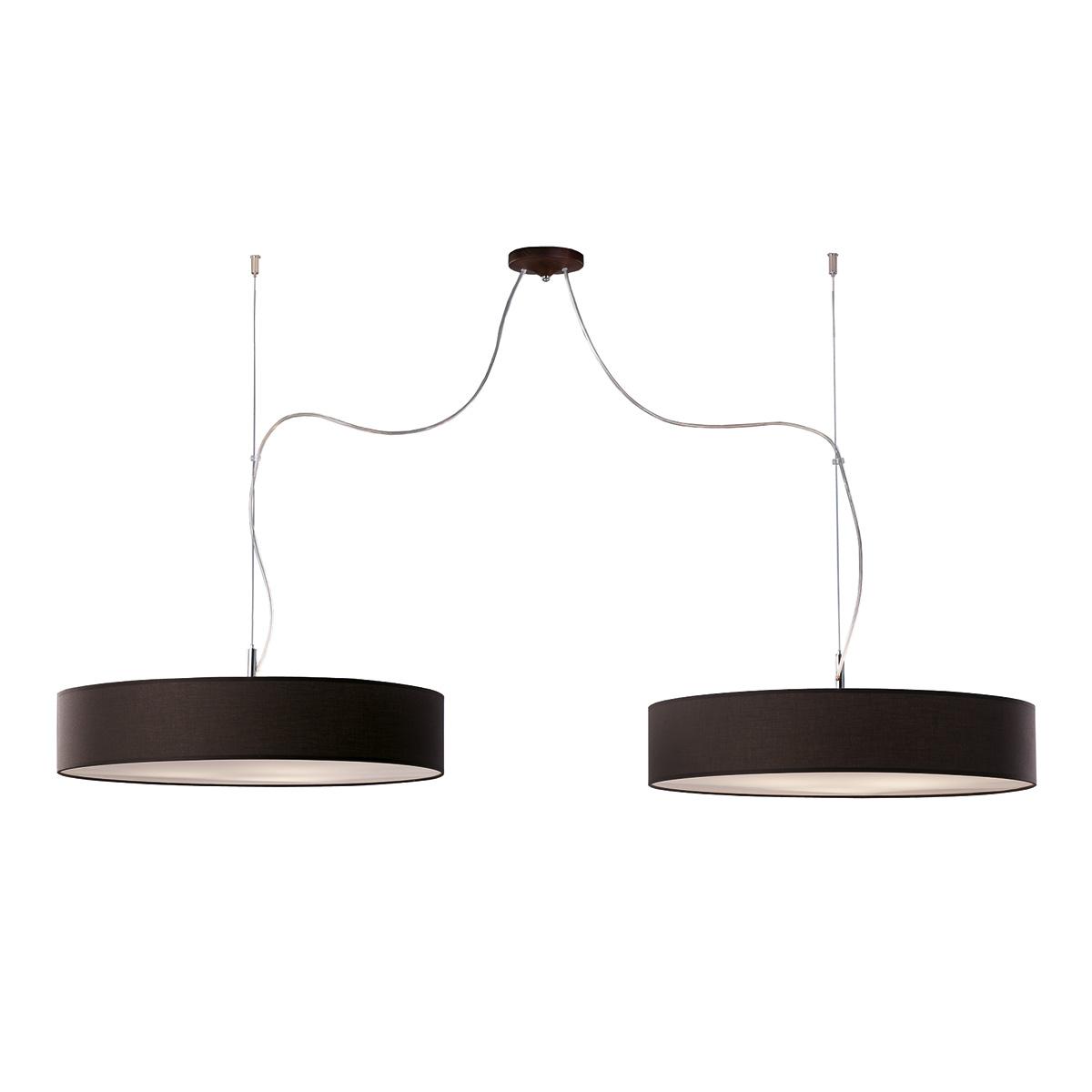 Δίφωτο ανθρακί κρεμαστό φωτιστικό DISCO ZEN dark grey hanging lamp