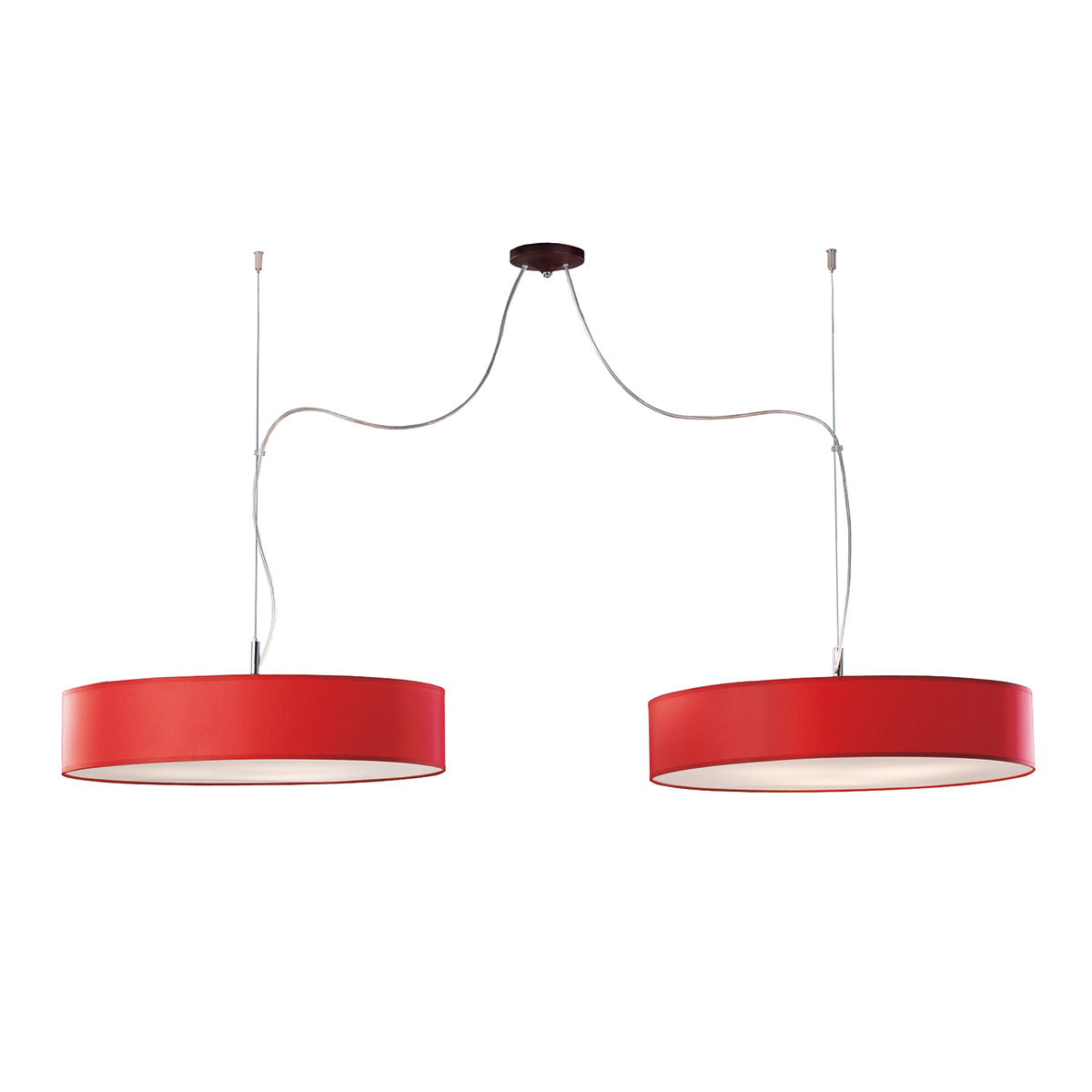 Δίφωτο κόκκινο κρεμαστό φωτιστικό DISCO ZEN red hanging lamp
