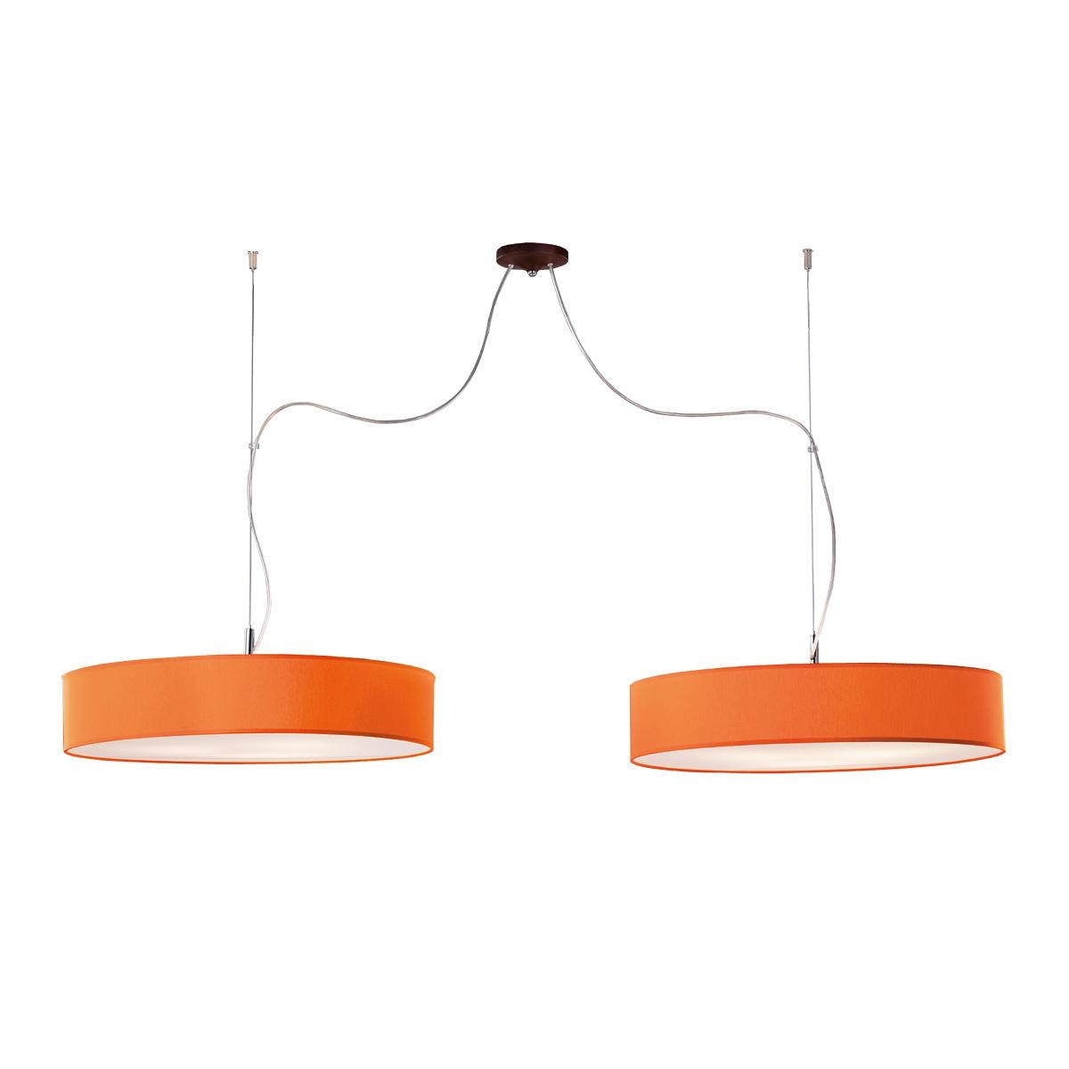 Δίφωτο πορτοκαλί κρεμαστό φωτιστικό DISCO ZEN orange hanging lamp