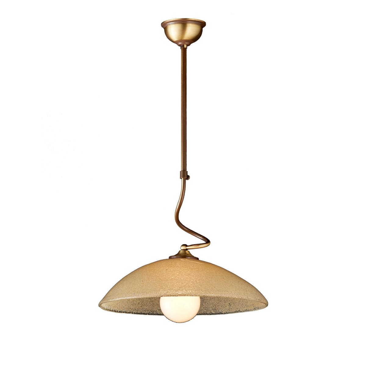 Κλασικό κρεμαστό φωτιστικό Μουράνο μελί ΝΑΞΟΣ-1 classic suspension lamp with Murano crystal
