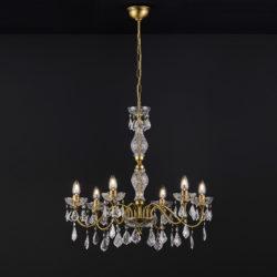 Κλασικό 6φωτο κρεμαστό φωτιστικό με κρύσταλλα ΔΙΟΝ classic 6-bulb chandelier with crystal accents