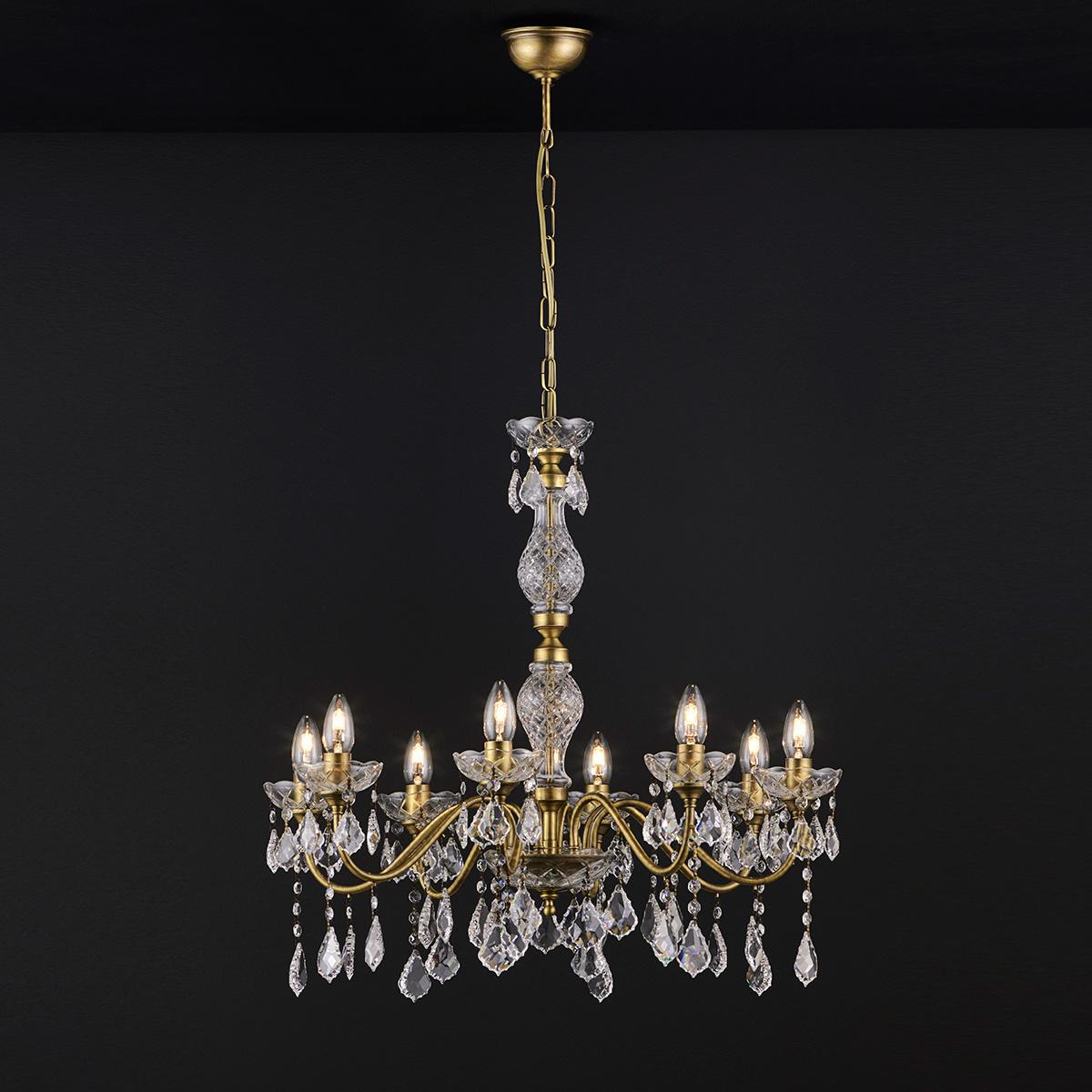 Κλασικό 8φωτο φωτιστικό με κρύσταλλα ΔΙΟΝ classic 8-bulb chandelier with crystals