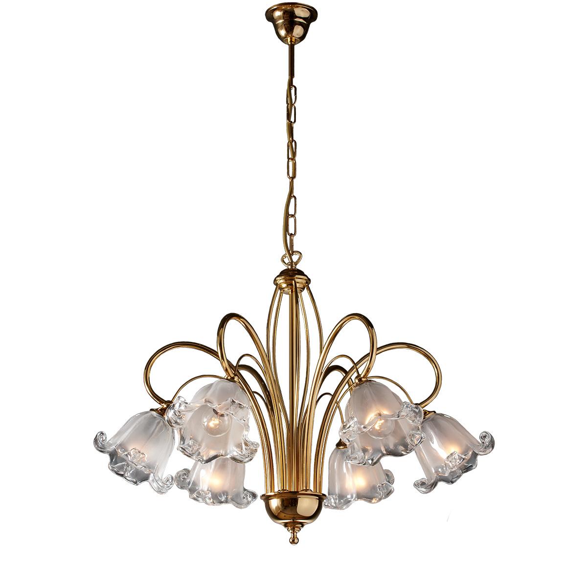 Κλασικό 6φωτο με κρύσταλλα Murano ΝΥΜΦΑΙΟ classic 6-bulb with Murano crystals