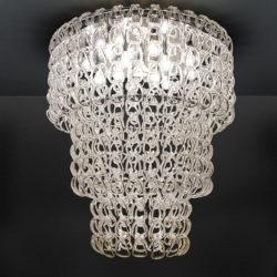Φωτιστικό οροφής με κρύσταλλα Μουράνο ΓΑΝΤΖΟΙ ceiling lamp with Murano crystals