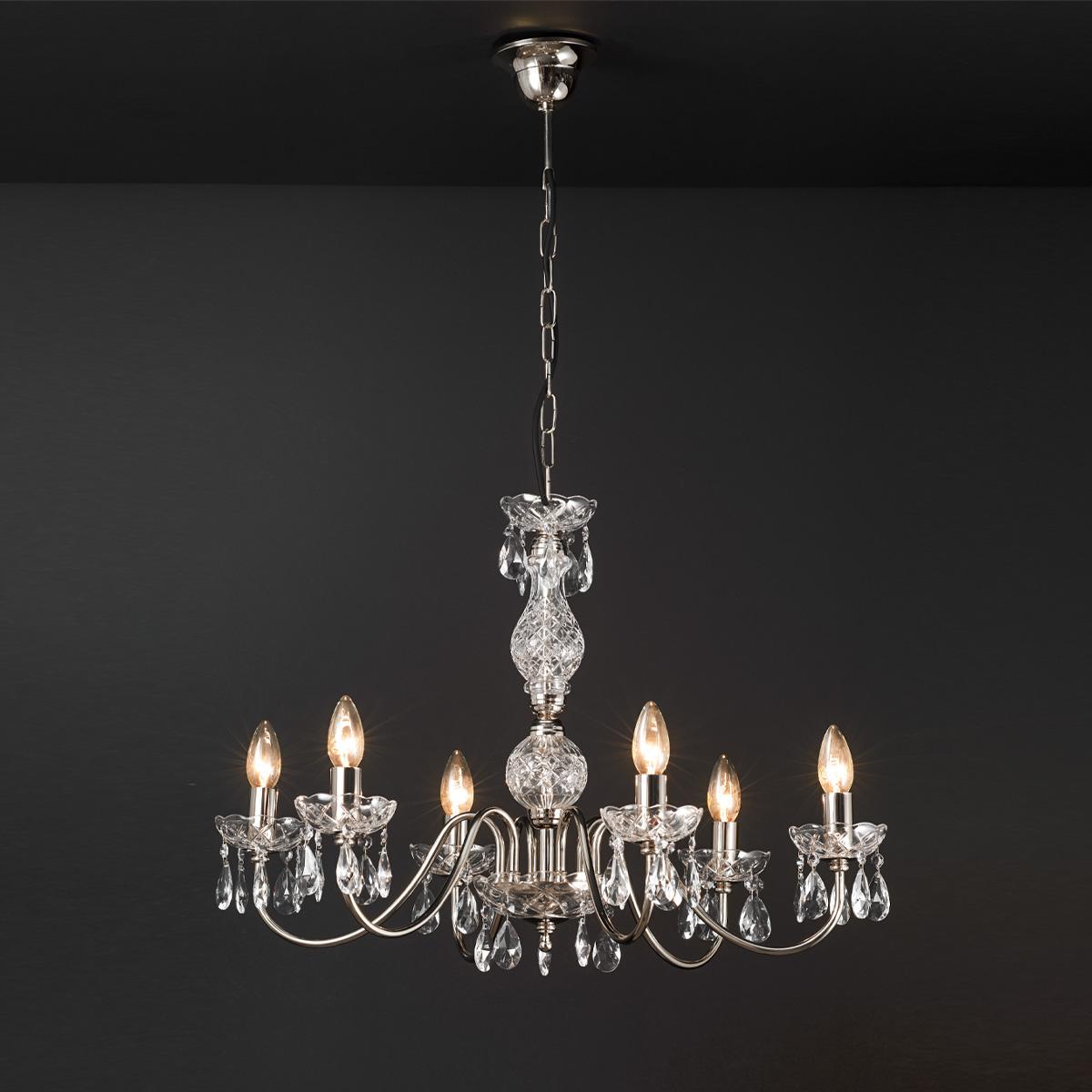 Φωτιστικό πολύφωτο με κρύσταλλα ΒΕΡΓΙΝΑ chandelier with crystals