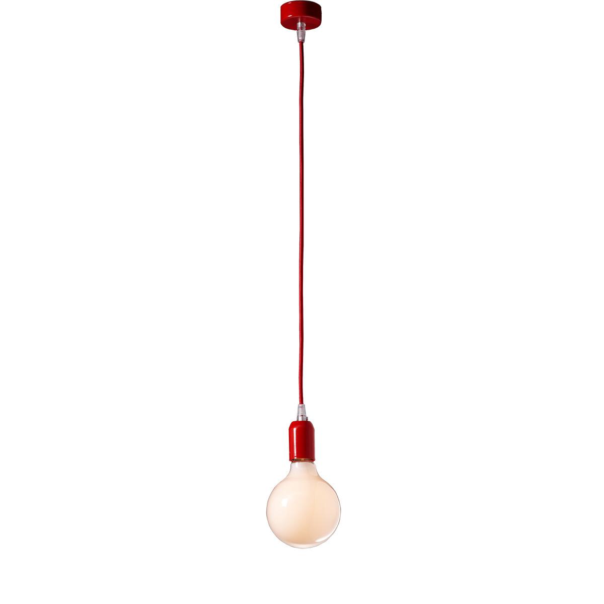 Μοντέρνο κόκκινο μονόφωτο ΚΑΛΩΔΙΑ modern red suspension lamp