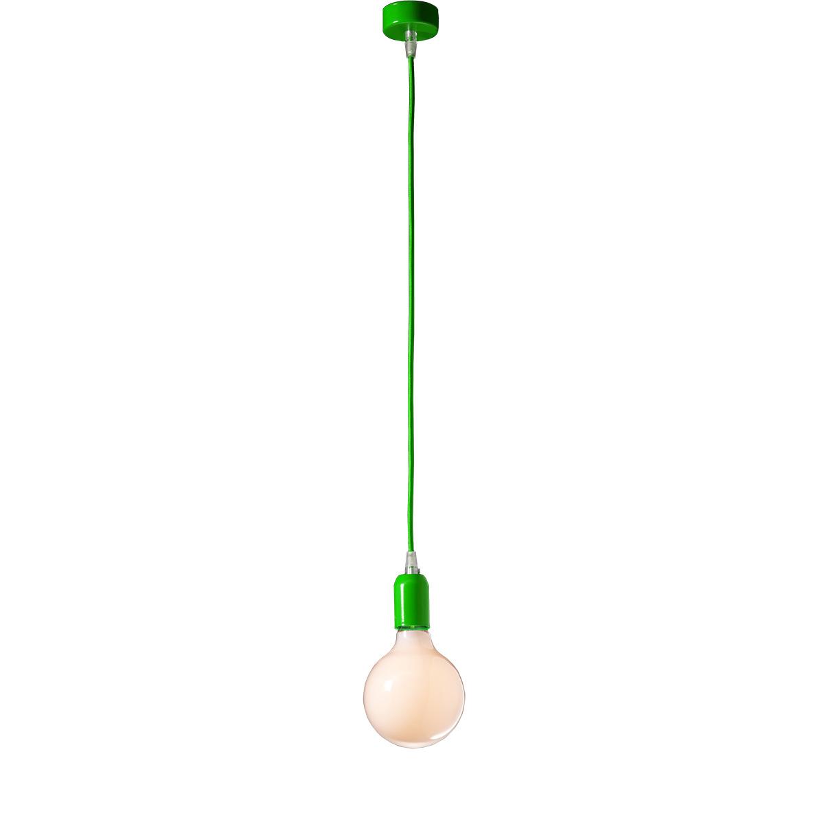 Μοντέρνο πράσινο μονόφωτο ΚΑΛΩΔΙΑ modern green suspension lamp