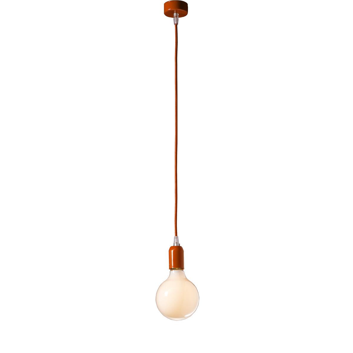 Μοντέρνο πορτοκαλί μονόφωτο ΚΑΛΩΔΙΑ modern orange suspension lamp