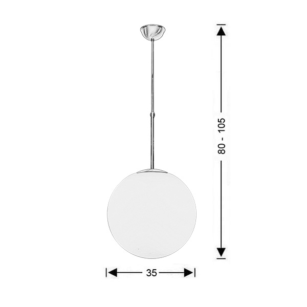 Ball-shaped light fixture | SPHERE - Drawing - Ball-shaped light fixture | SPHERE