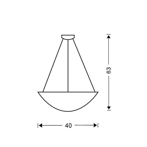 Φωτιστικό μονόφωτο   MURRINA - Σχέδιο - Φωτιστικό μονόφωτο   MURRINA