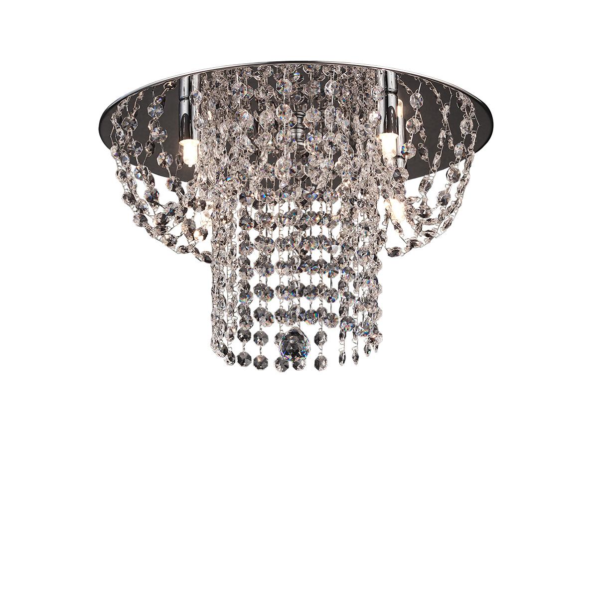Μοντέρνο φωτιστικό οροφής με κρύσταλλα ΕΡΜΗΣ ceiling lamp with crystal accents