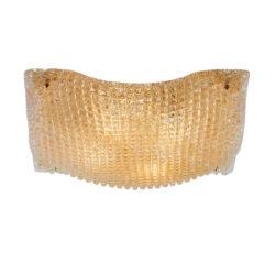 Πλαφονιέρα με μελί κρύσταλλο Μουράνο MANTILI classic amber Murano crystal ceiling lamp