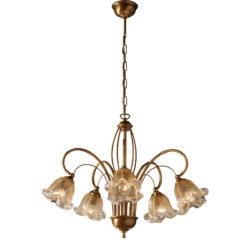 Κλασικό 5φωτο με κρύσταλλα Murano ΝΥΜΦΑΙΟ classic 5-bulb with Murano crystals