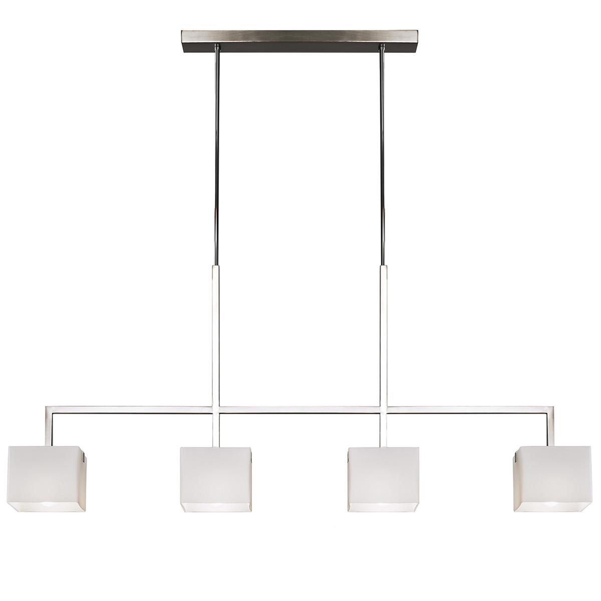 Μοντέρνο φωτιστικό τραπεζαρίας ΚΥΒΟΙ modern chandelier with Murano