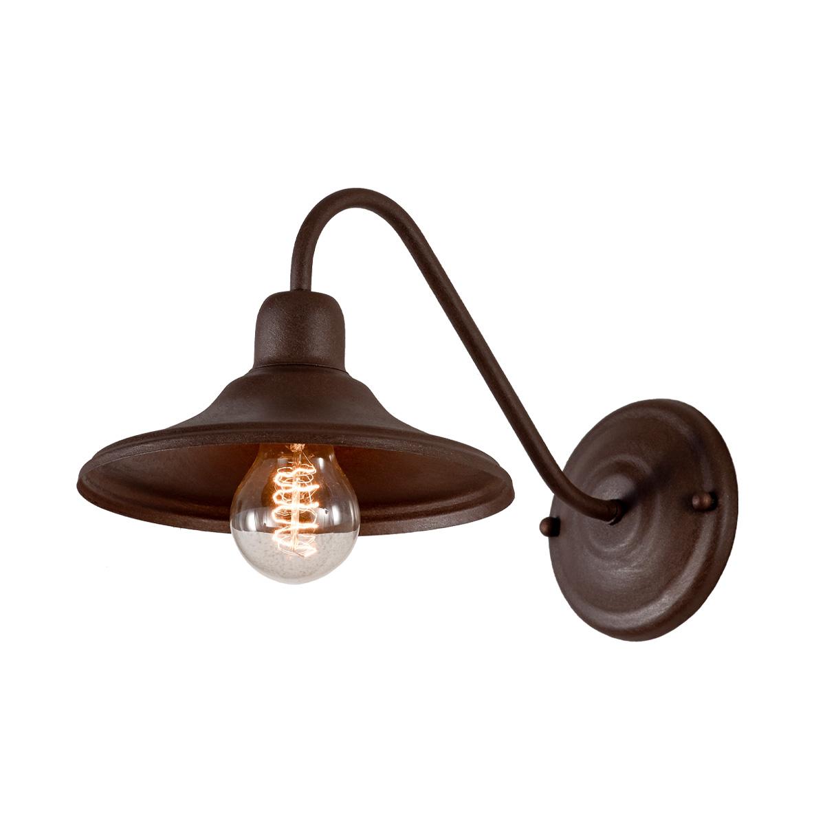 Απλίκα ρουστίκ σε καφέ πατίνα ΙΟΣ brown patinated rustic wall lamp