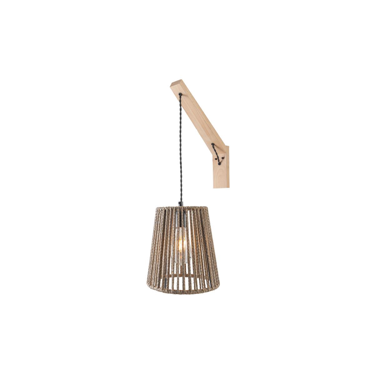 Απλίκα με ξύλινη βάση CORD wall lamp with wooden base