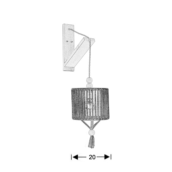 Pendant wall lamp | KELLY - Drawing - Pendant wall lamp | KELLY