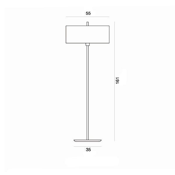 Floor lamp | OVNI - Drawing - Floor lamp | OVNI