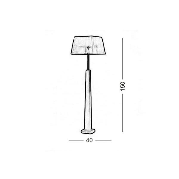 Floor lamp | TRAPEZIO ZEN - Drawing - Floor lamp | TRAPEZIO ZEN