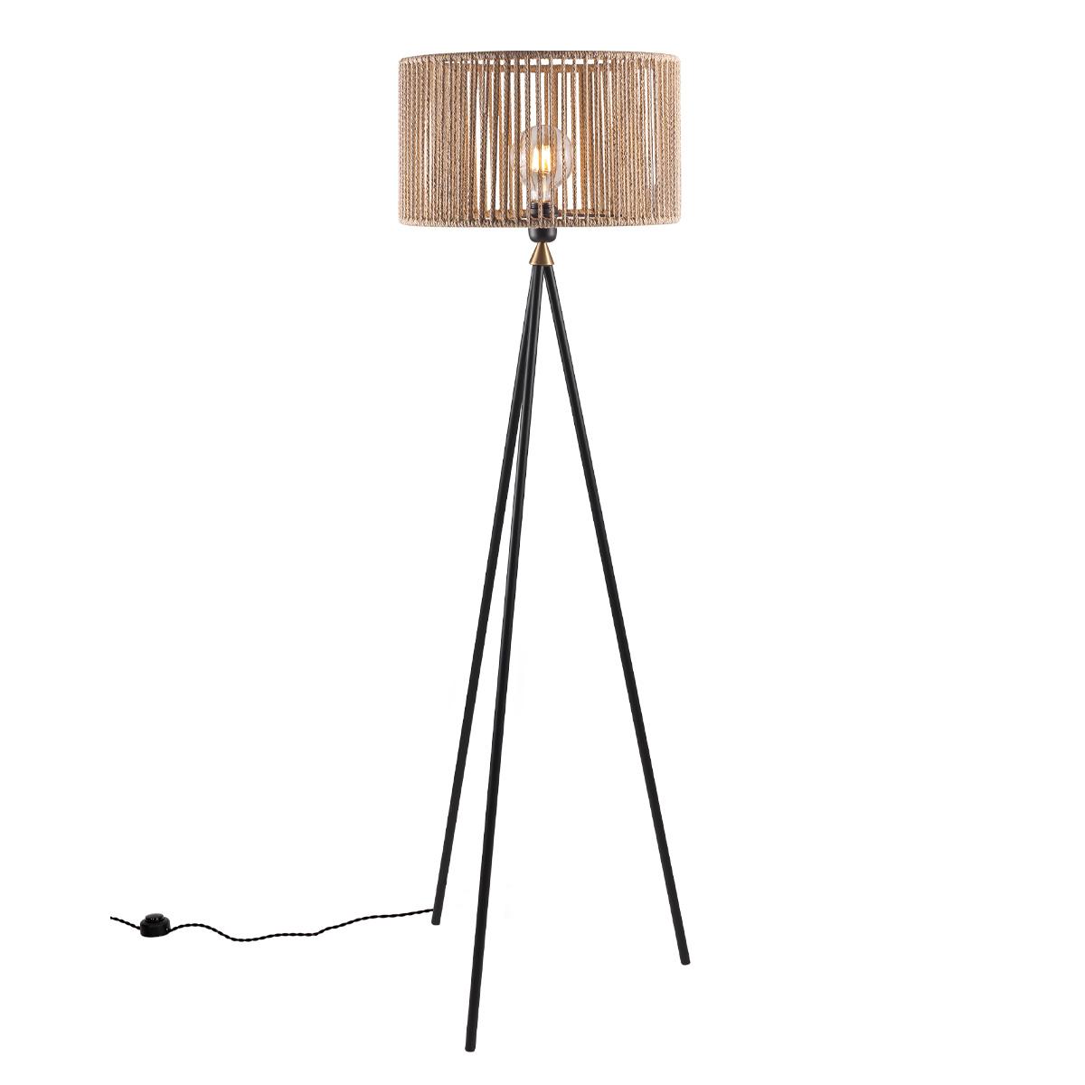 Τρίποδο φωτιστικό δαπέδου KELLY tripode metal floor lamp