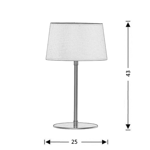 Inox table lamp shade | IONIO - Drawing - Inox table lamp shade | IONIO