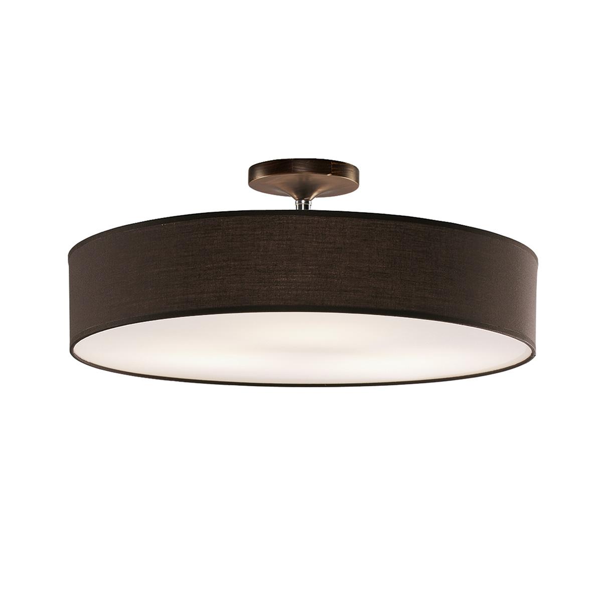 Φωτιστικό ημιοροφής με ανθρακί καπέλο DISCO ZEN ceiling lamp with dark grey shade
