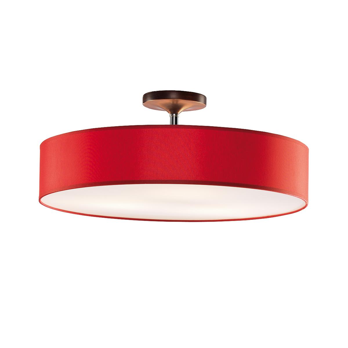 Φωτιστικό ημιοροφής με κόκκινο καπέλο DISCO ZEN ceiling lamp with red shade