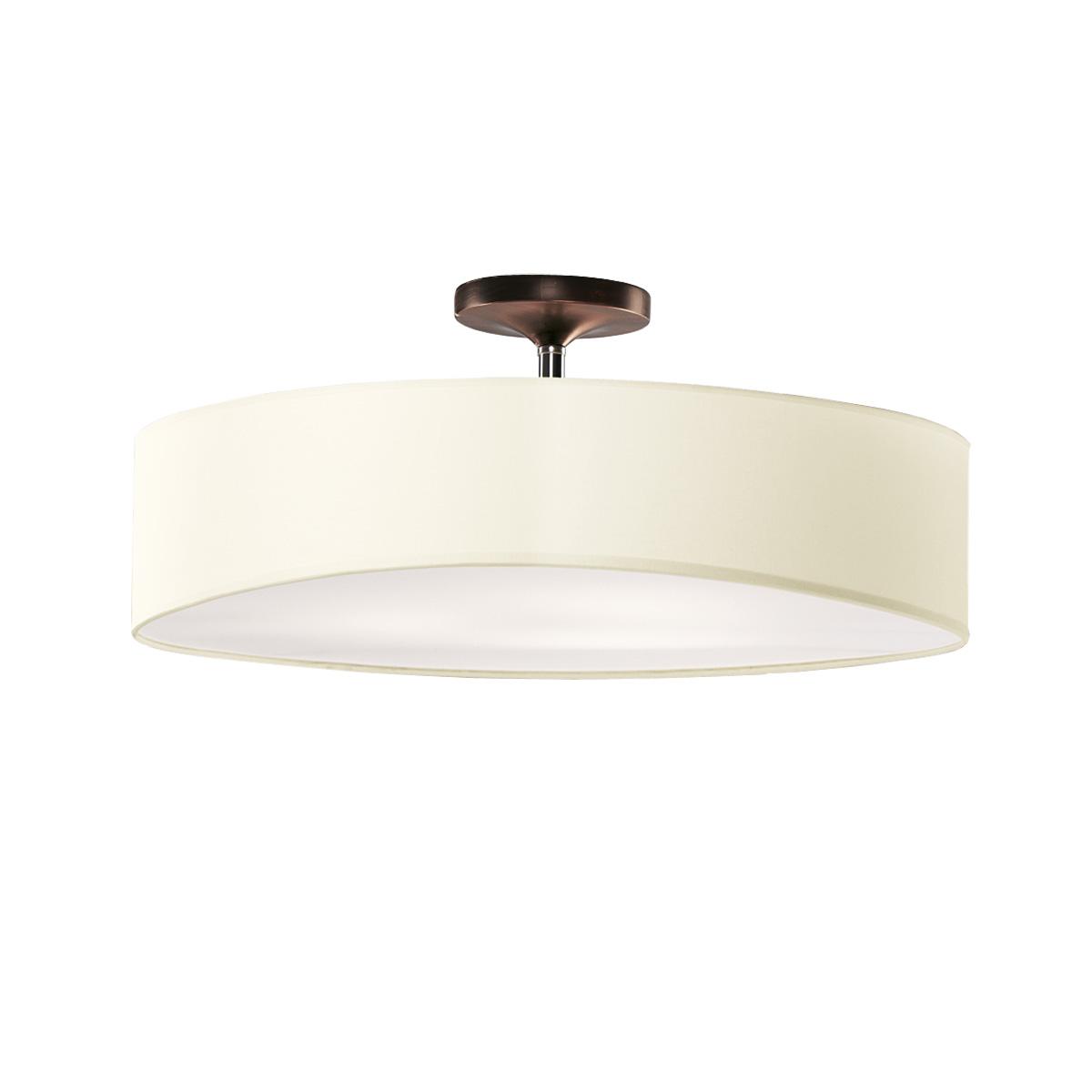 Φωτιστικό ημιοροφής με μπεζ καπέλο DISCO ZEN ceiling lamp with beige shade