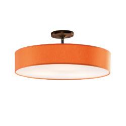 Φωτιστικό ημιοροφής με πορτοκαλί καπέλο DISCO ZEN ceiling lamp with orange shade