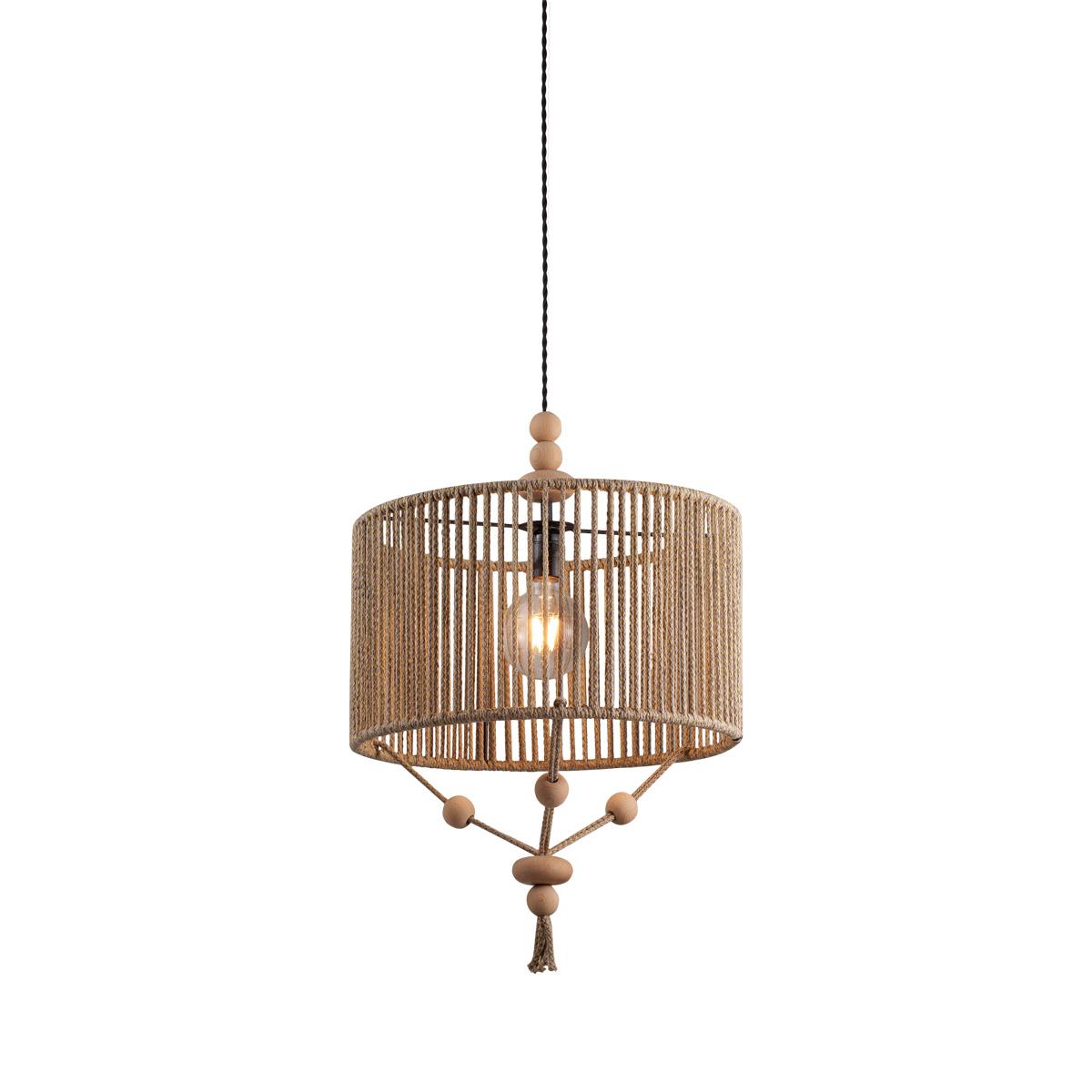 Φωτιστικό από υφασμάτινο κορδόνι KELLY rope-woven light fixture