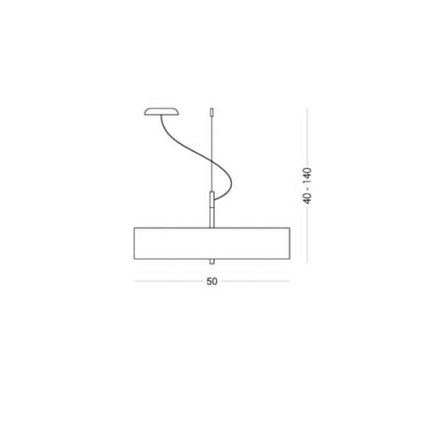 Suspension lamp with shade | OVNI - Drawing - Suspension lamp with shade | OVNI