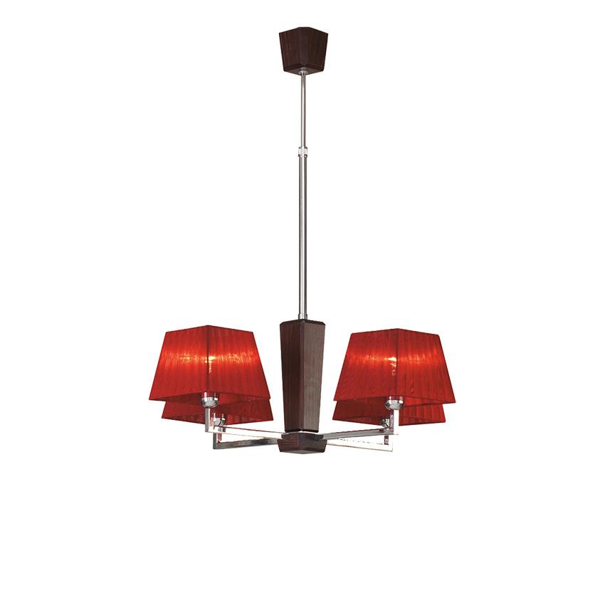 Κρεμαστό φωτιστικό με καπέλα TRAPEZIO ZEN chandelier with lamp shades