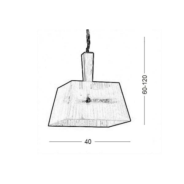 Suspension lamp | TRAPEZIO ZEN - Drawing - Suspension lamp | TRAPEZIO ZEN