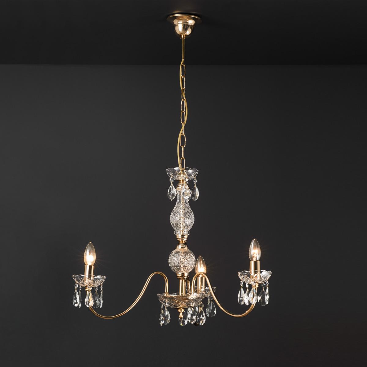 Κλασικό κρεμαστό φωτιστικό με κρύσταλλα ΒΕΡΓΙΝΑ classic chandelier with crystal accents