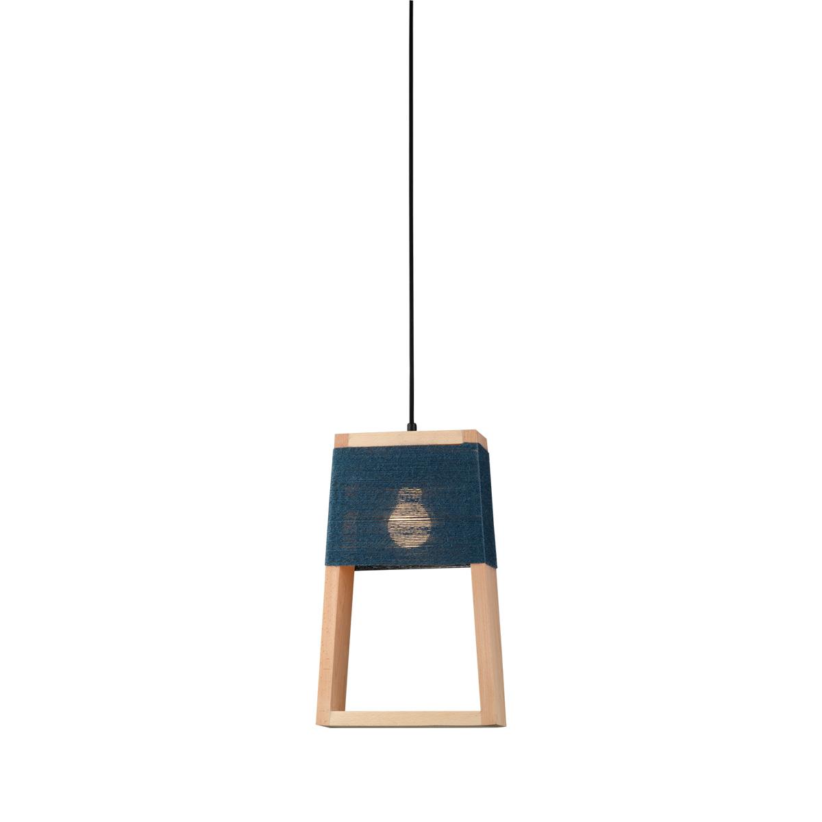 Χειροποίητο ξύλινο φωτιστικό SOHO wooden handmade suspension lamp