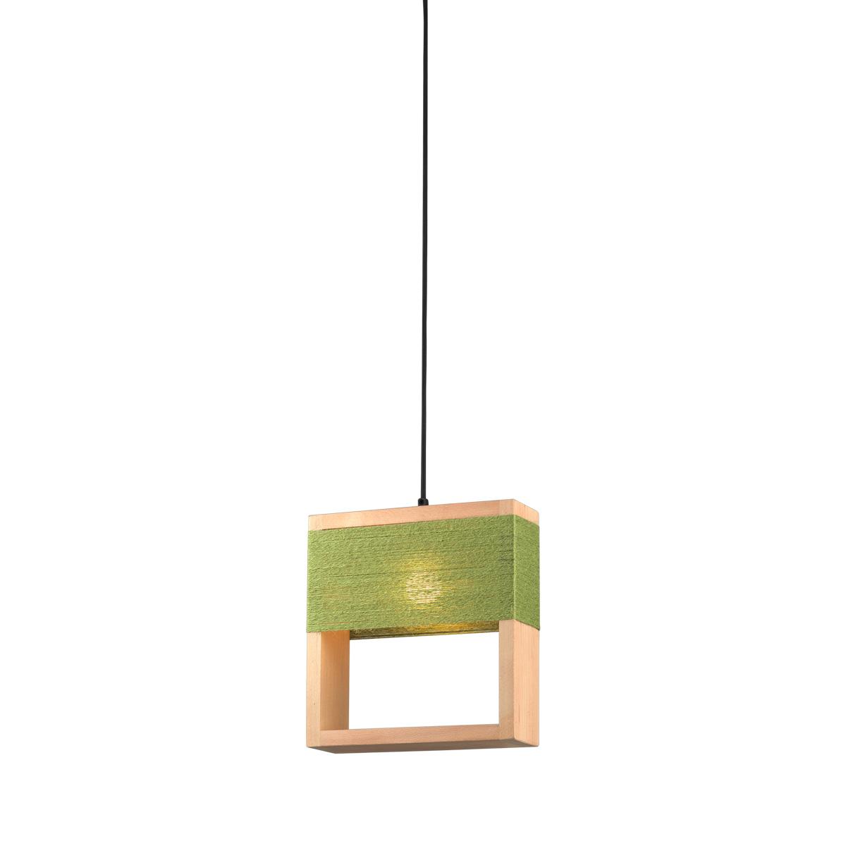 Τετράγωνο ξύλινο φωτιστικό SOHO square wooden pendant light