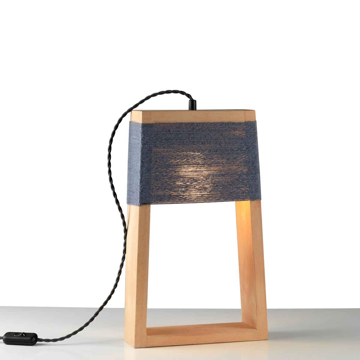 Επιτραπέζιο ξύλινο φωτιστικό SOHO wooden table lamp
