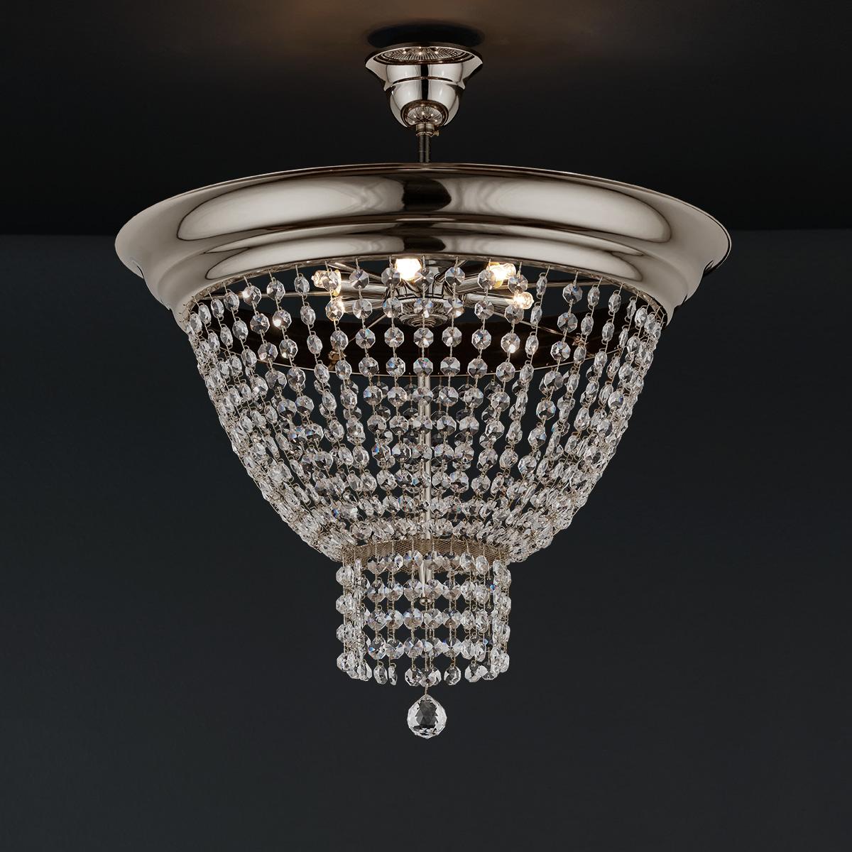 Φωτιστικό οροφής με κρύσταλλα ΦΑΙΔΡΑ ceiling lamp with crystal accents
