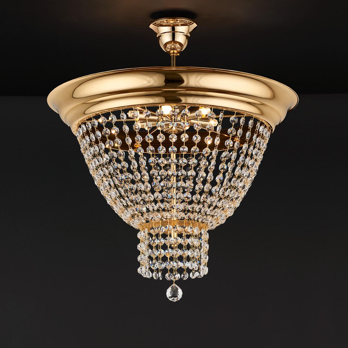 Κλασικό φωτιστικό οροφής με κρύσταλλα ΦΑΙΔΡΑ classic ceiling lamp with crystal accents