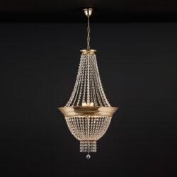 Κλασικό φωτιστικό με κρύσταλλα ΦΑΙΔΡΑ classic suspension lamp with crystal accents
