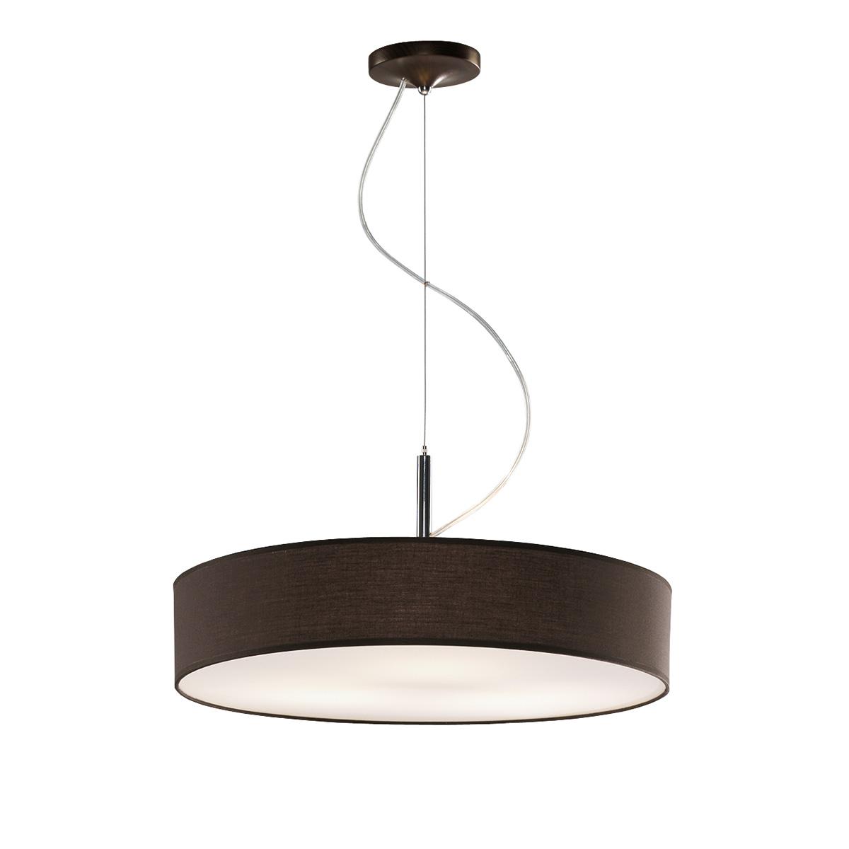 Κρεμαστό ανθρακί φωτιστικό DISCO ZEN suspension lamp with dark grey shade