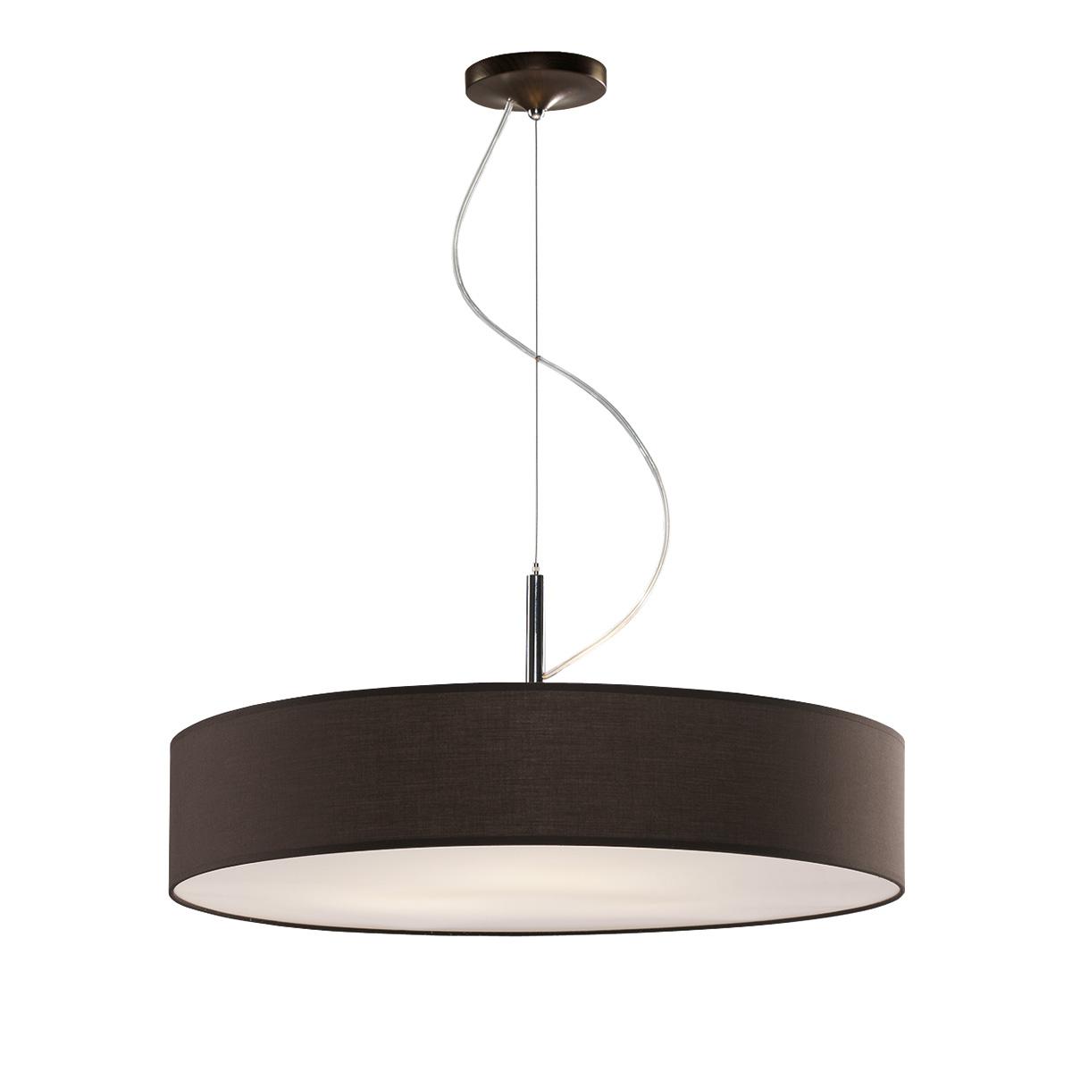 Κρεμαστό ανθρακί μονόφωτο DISCO ZEN hanging lamp with dark gray shade