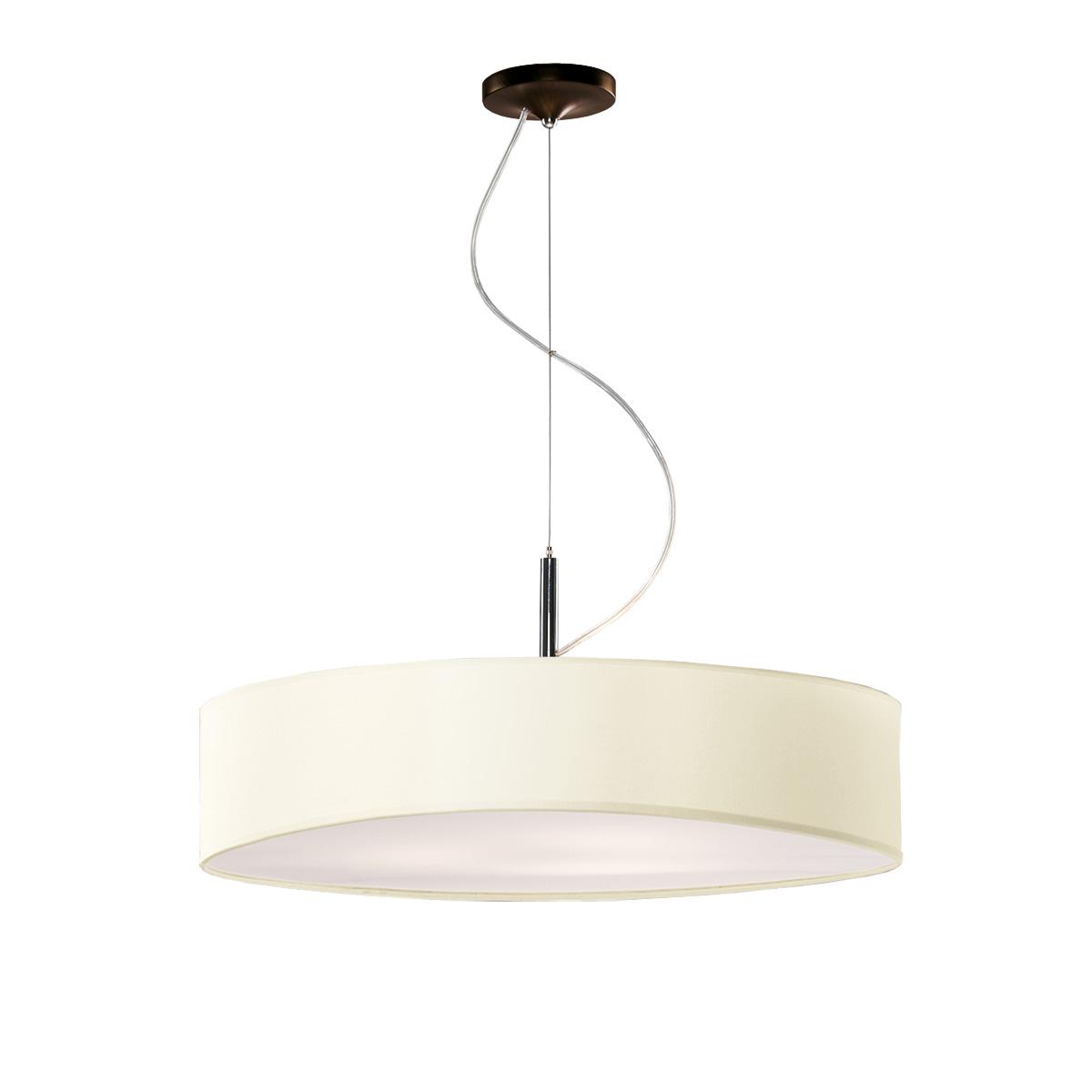 Κρεμαστό μπεζ μονόφωτο DISCO ZEN hanging lamp with beige shade