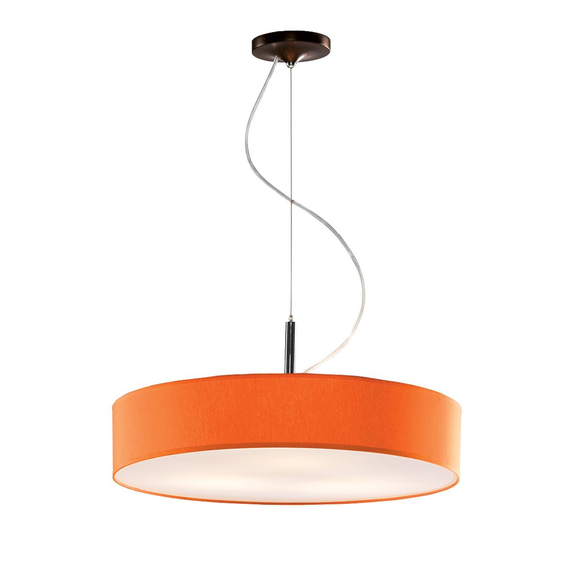 Κρεμαστό πορτοκαλί μονόφωτο DISCO ZEN hanging lamp with orange shade