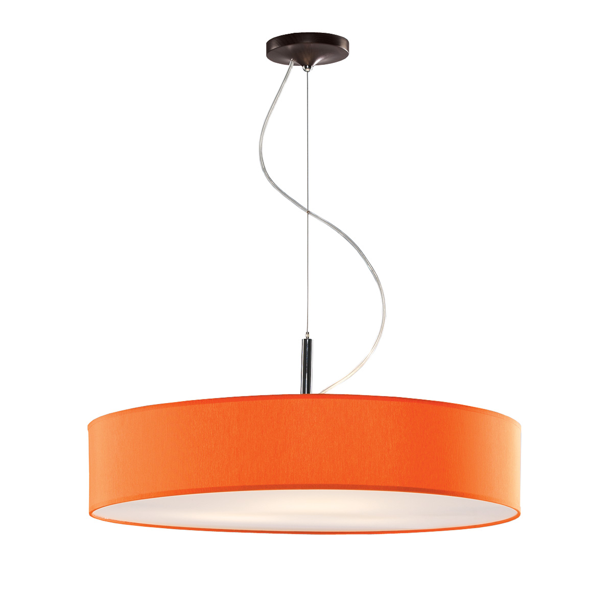 Κρεμαστό πορτοκαλί φωτιστικό DISCO ZEN suspension lamp with orange shade