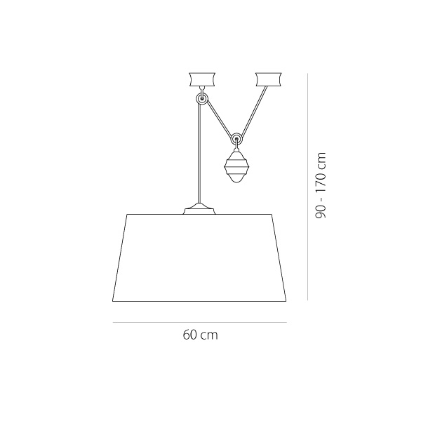 Φωτιστικό μονόφωτο με βαρίδι | BAMBOO - Σχέδιο - Φωτιστικό μονόφωτο με βαρίδι | BAMBOO