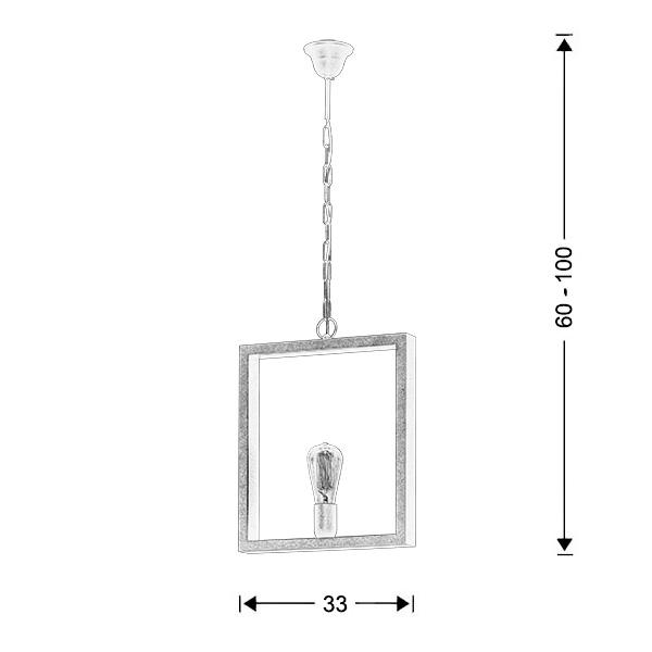 Industrial hanging lamp | THASSOS - Drawing - Industrial hanging lamp | THASSOS